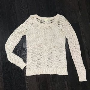 Urban Outfitters Cream Colored Crochet Sweater